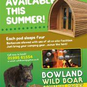 camping-pod Bowland Wild Boar Park